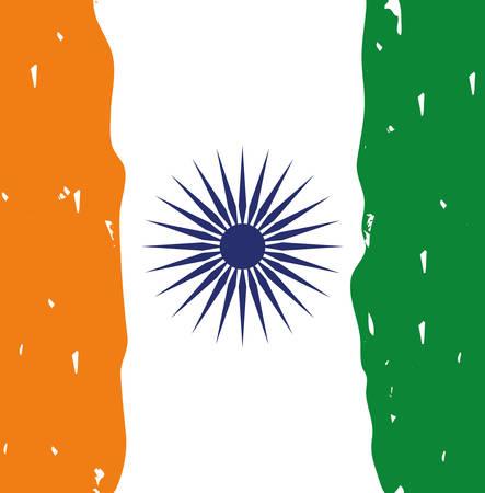 independence day indian flag background vector illustration design