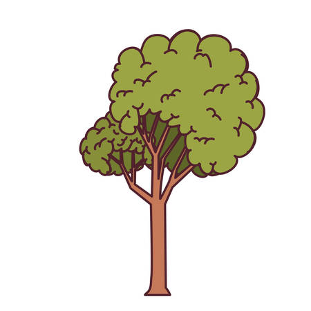 landscape with tall tree isolated icon vector illustration design