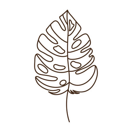 branch with leaf of summer in white background vector illustration design Ilustracja