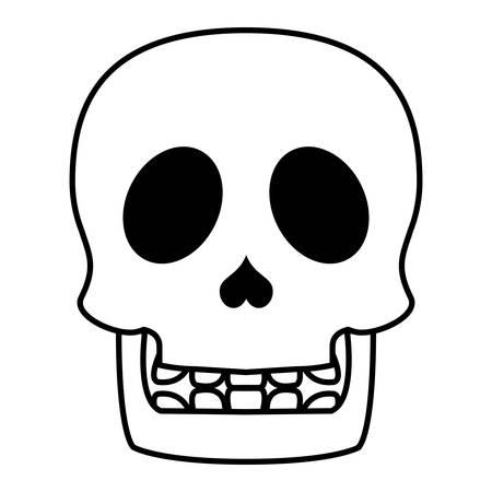 skull head halloween isolated icon vector illustration design