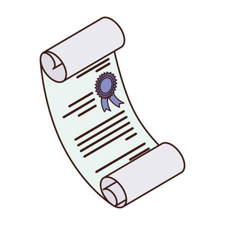 graduation certificate in white background vector illustration desing