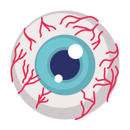 eye human organ halloween icon vector illustration design