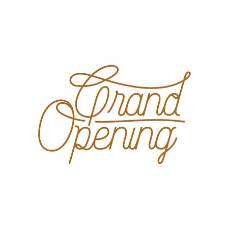 grand opening label isolated icon vector illustration design
