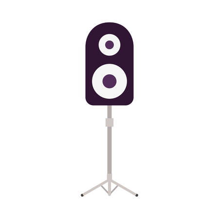 stereo speaker with stand on white background vector illustration design  イラスト・ベクター素材