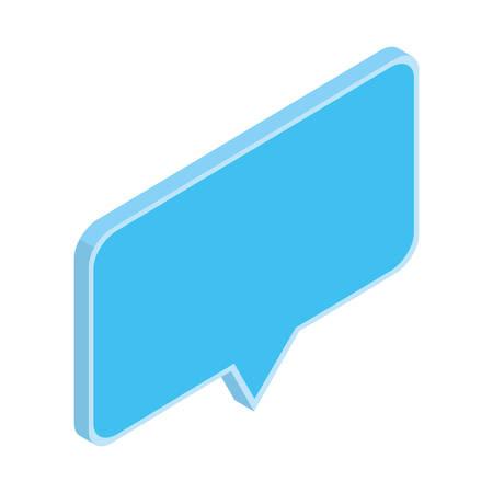 speech bubble in 3d on white background vector illustration design
