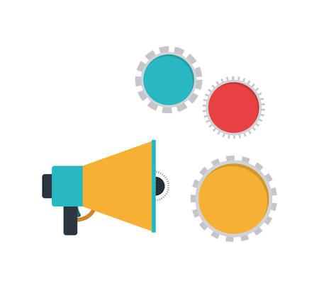 megaphone with white background vector illustration design 일러스트