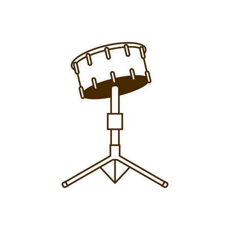 musical instrument timpani on white background vector illustration design
