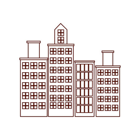 cityscape buildings urban scene icon vector illustration design Illusztráció
