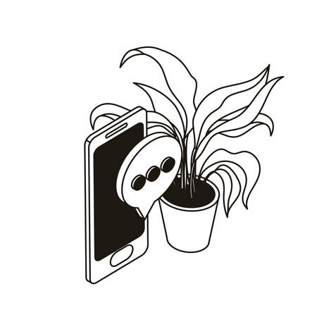 smartphone screen with email notifications vector illustration design Иллюстрация