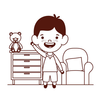 cute little boy baby character vector illustration design