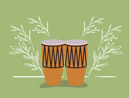 bongos drums musical instrument icon vector illustration design Illustration