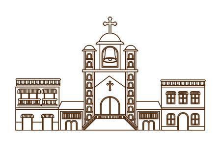 neighborhood houses isolated icon vector illustration design Ilustração