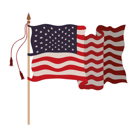 united states flag isolated icon vector illustration design 일러스트