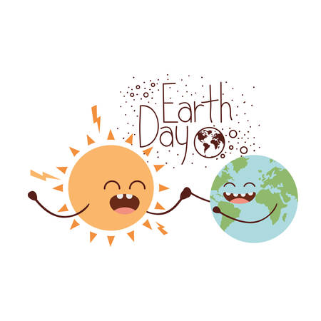 earth day label icon vector illustration design
