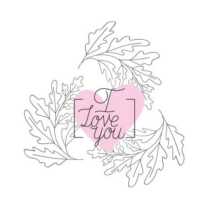 i love you mom label isolated icon vector illustration design