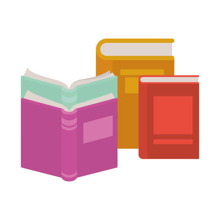 book of school with white background vector illustration design