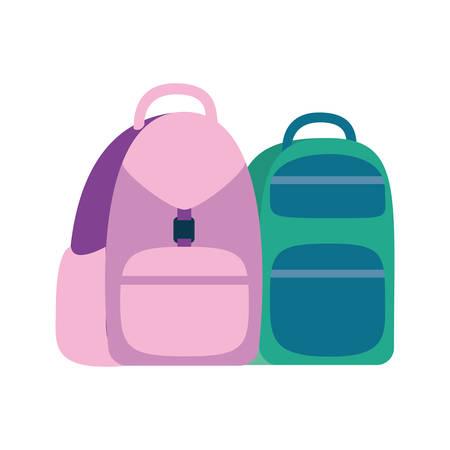 handbag school on white background vector illustration design Stock Illustratie