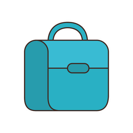 handbag school on white background vector illustration design