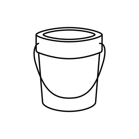sand bucket on white background vector illustration design