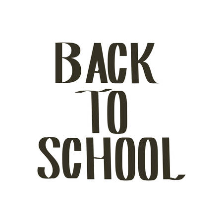 back to school label on white background vector illustration design Stockfoto - 130458985