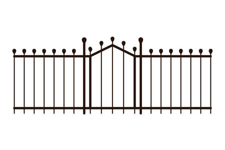 metal gate fence isolated icon vector illustration design
