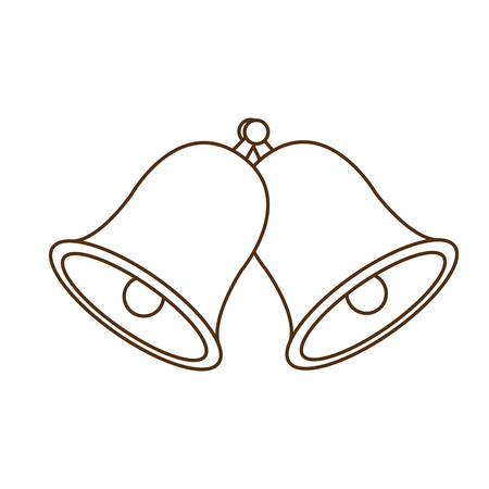 cute bell isolated icon vector illustration design