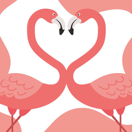 pink flamingo pattern isolated icon vector illustration design