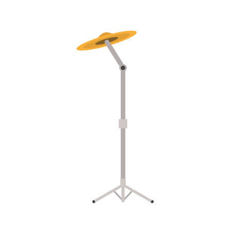 cymbals musical instrument with stand on white background vector illustration design Stock Illustratie