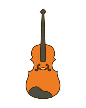 musical instrument fiddle on white background vector illustration design  イラスト・ベクター素材