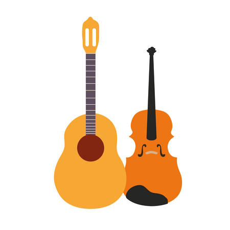 musical instruments on white background vector illustration design