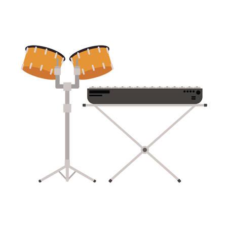 musicals instruments on white background vector illustration design