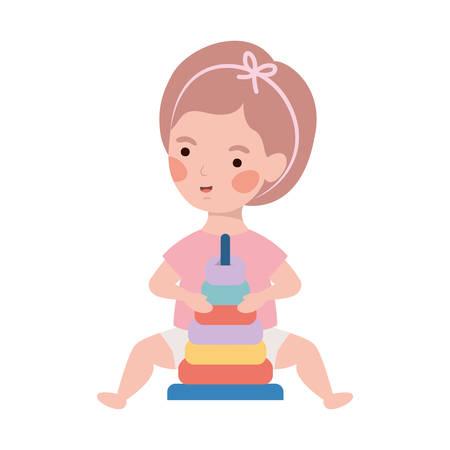 Baby girl design, Child newborn childhood kid innocence and little theme Vector illustration