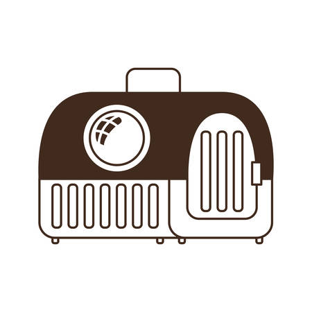silhouette of pet transport box on white background vector illustration design 向量圖像