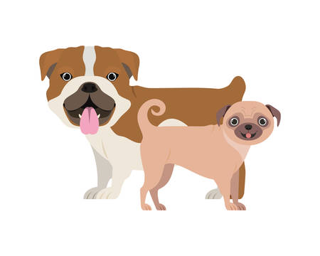 cute and adorable dogs on white background vector illustration design Banque d'images - 130595643