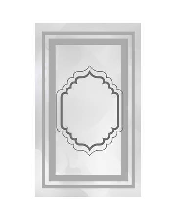 elegant frame victorian isolated icon vector illustration desing