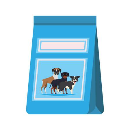 pet food bag on white background vector illustration design Çizim