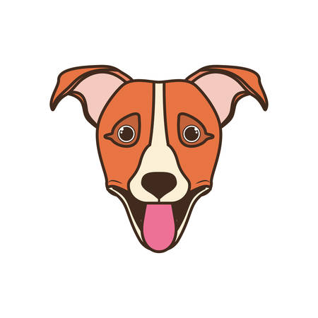 head of cute jack russell rerrier dog on white background vector illustration design Banque d'images - 130686906