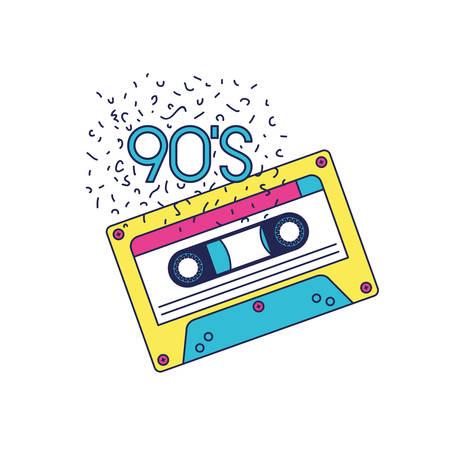 retro cassette music icon vector illustration design Stock Illustratie