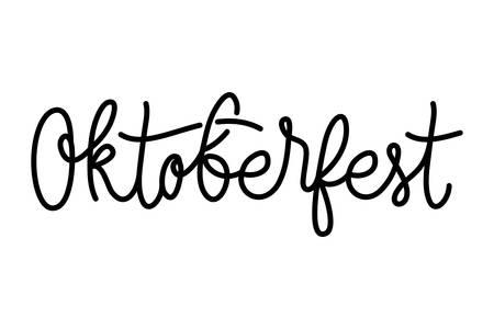 oktoberfest lettering calligraphy font icon vector illustration design