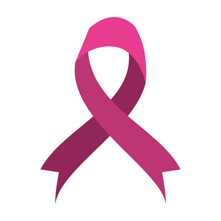 breast cancer campaign ribbon icon vector illustration design
