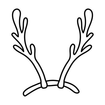 Joyeux noël cornes de cerf accessoire conception d'illustration vectorielle