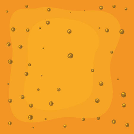 beer color and bubbles background vector illustration design