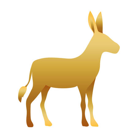golden donkey manger animal character vector illustration design Иллюстрация