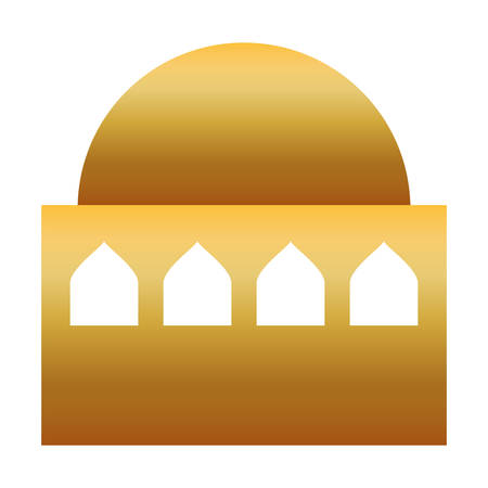 golden manger house building isolated icon vector illustration design