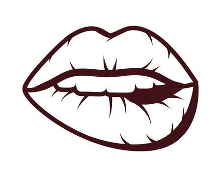 woman mouth pop art style vector illustration design Vecteurs