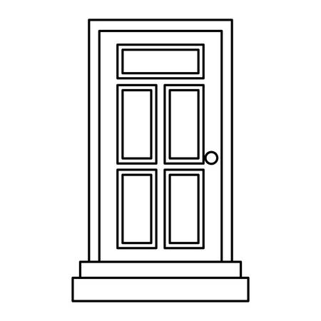 beauty house door wooden icon vector illustration design