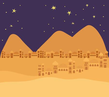 manger houses cityscape buildings landscape vector illustration design