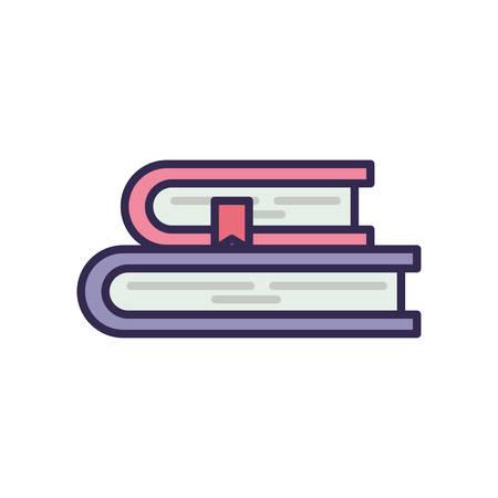 education text books pile icons vector illustration design Vecteurs