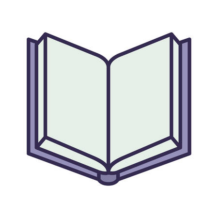 education text book open isolated icon vector illustration design Ilustração Vetorial