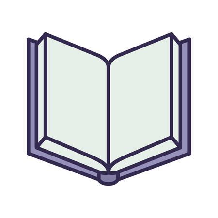 Istruzione libro di testo aperto icona isolata illustrazione vettoriale design Vettoriali